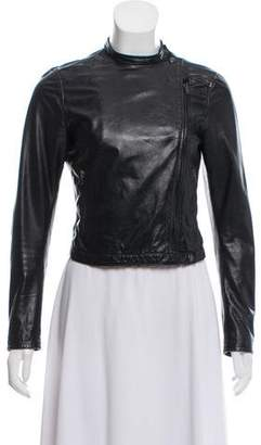 Miu Miu Long Sleeve Leather Jacket