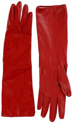 Alessandra Rich Mid Matte & Patent Leather Gloves
