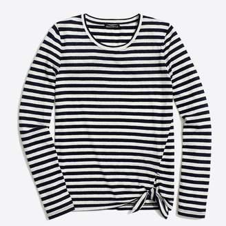 J.Crew Factory Long-sleeve striped side-tie T-shirt