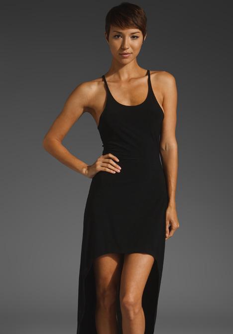 Norma Kamali Racer Super High Low Dress