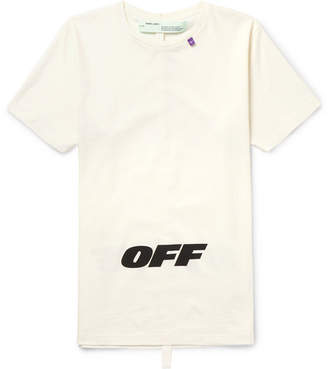 Off-White Off White Slim-Fit Printed Cotton-Jersey T-Shirt - Men
