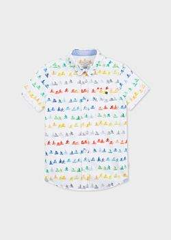 Paul Smith Boys' 8+ Years White 'Cyclist' Print Shirt