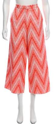 Rochas High-Rise Patterned Pants