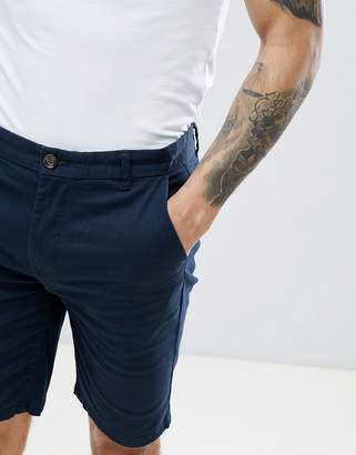 Burton Menswear Chino Short In Navy