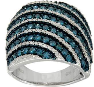 Affinity Diamond Jewelry Pave' Colored Diamond Wide Ring, Sterling, 1.50 cttw by Affinity