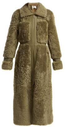 Zimmermann Tempest Shearling Long Coat - Womens - Green