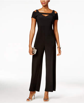 Night Way Nightway Cutout Wide-Leg Jumpsuit, Regular & Petite Sizes