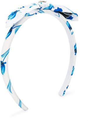 Versace floral print headband