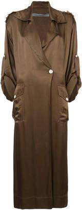 Raquel Allegra cargo trench coat