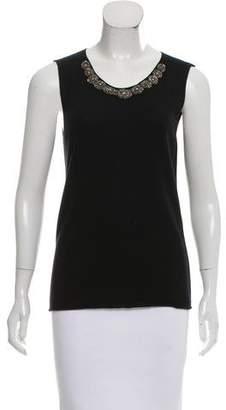 Lanvin Embellished Wool & Cashmere Top