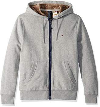 89e74389522a01 Tommy Hilfiger Men s Hoodie with Magnetic Zipper and Fleece Lining
