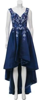 Jovani Floral Sequin Evening Gown