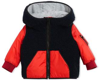 Burberry Faux Shearling Hooded Jacket