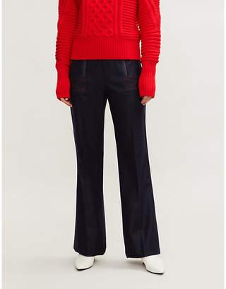 Sportmax Ely high-rise wide-leg wool-blend trousers