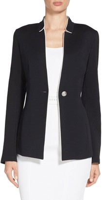 Milano Knit Notch Collar Jacket $995 thestylecure.com