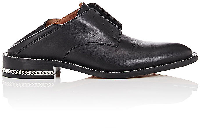Givenchy Women's Chain-Embellished Leather Oxfords