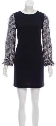 Tory Burch Embellished Knit Mini Dress
