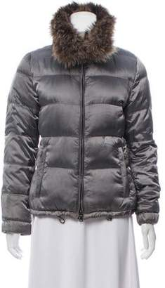 Prada Sport Fur-Trimmed Down Jacket