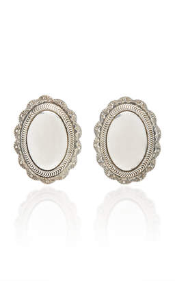 Fallon One-Of-A-Kind Oval Reposse Earring