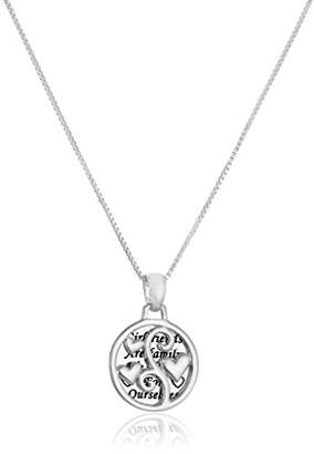 "Sterling ""Girlfriends"" Two-Piece Pendant Necklace"