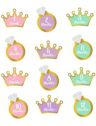 Motherhood Maternity Pearhead Little Princess Foil Stickers