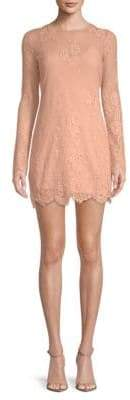 Lovers + Friends Short & Sweet Lace Overlay Shift Dress