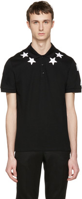 Givenchy Black Star Patch Polo $550 thestylecure.com