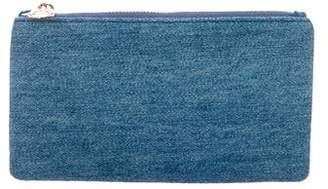 Charlotte Olympia Denim Zip Pouch