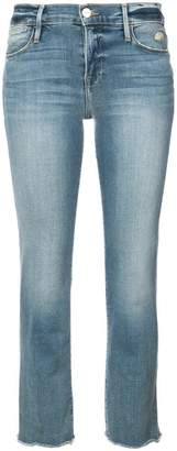 Frame cropped straight leg jeans