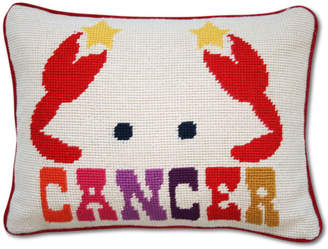 Jonathan Adler Cancer Zodiac Needlepoint Throw Pillow