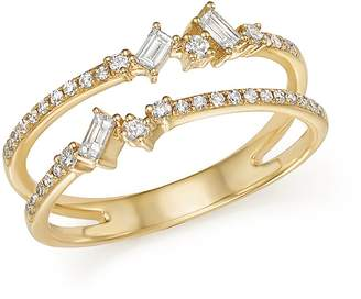 KC Designs 14K Yellow Gold Mosaic Diamond Double Bar Ring