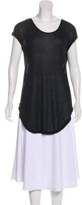 BLK DNM Semi-Sheer Cap Sleeve Top w/ Tags