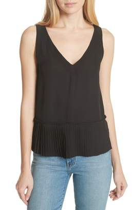 Rebecca Taylor Stretch Silk Tank Top