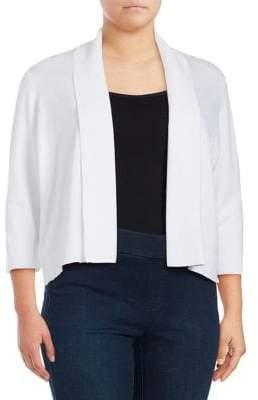 Calvin Klein Plus Plus Three Quarter Sleeve Shawl Sweater