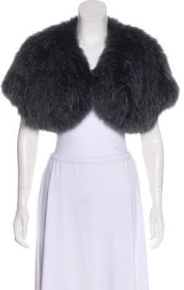 Co Fur Open-Front Shrug