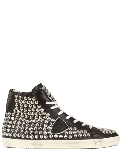 Philippe Model Limited Studded Leather High Top