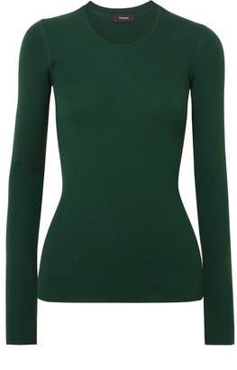 Theory Miriz Ribbed Merino Wool Sweater - Dark green
