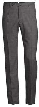 Incotex Benson Straight Leg Wool Trousers