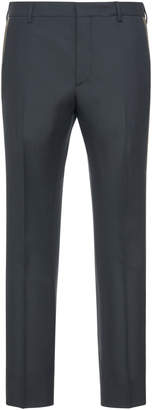 Prada Striped Wool And Mohair Slim-Leg Pants