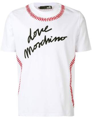 Love Moschino baseball logo T-shirt