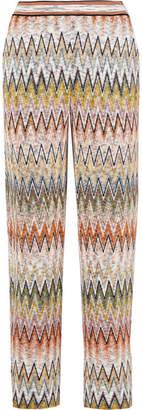 Missoni Crochet-knit Straight-leg Pants - Beige