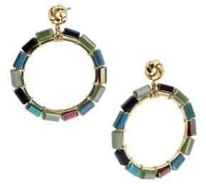 Saachi Mosaic Beaded Hoop Earrings