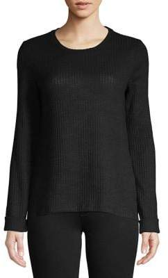 Lord & Taylor Knit Side Slit Pullover