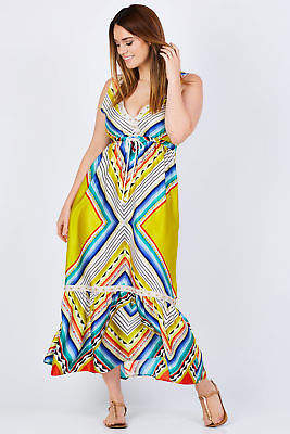 NEW Curate Womens Calf Length Dresses Fun And Maxi Free Dress Rainbow