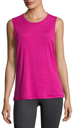 Onzie Twist Open-Back Muscle Tank Top, Pink