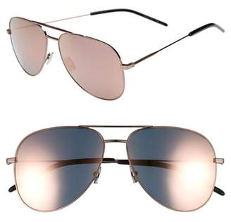 Saint Laurent Classic 11 59mm Aviator Sunglasses