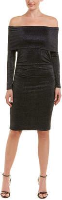 BCBGMAXAZRIA Off-The-Shoulder Sheath Dress