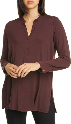 Eileen Fisher Long Sleeve Jersey Tunic