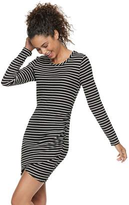 Love, Fire Love Fire Juniors' Ruched Striped Bodycon Dress