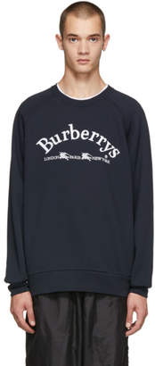 Burberry Navy Battarni Logo Sweatshirt